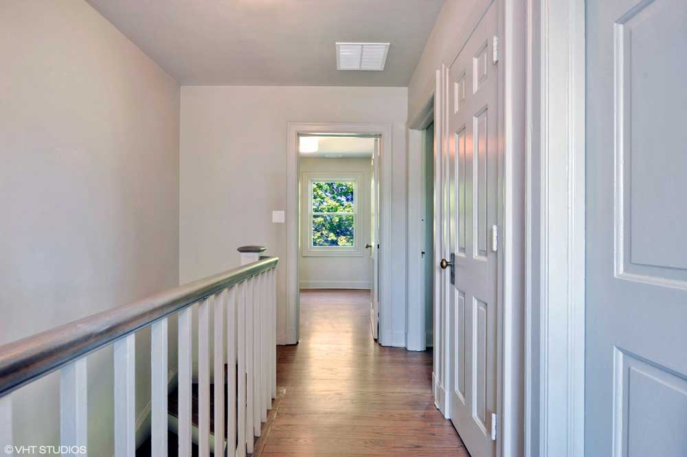 Westover Townhomes hallway with hardwood floor