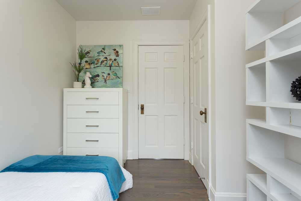 Westover Townhomes Bedroom with natural hardwood floors